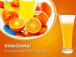 Orange Juice Food PowerPoint Templates And PowerPoint Backgrounds 0511