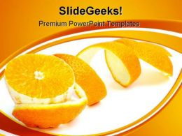 Orange Slice Food PowerPoint Templates And PowerPoint Backgrounds 0311