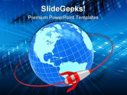 Orbit Global Network PowerPoint Templates And PowerPoint Backgrounds 0111