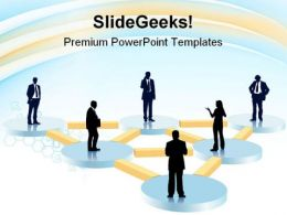 Organization Chart Business PowerPoint Templates And PowerPoint Backgrounds 0811