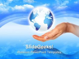 Our Own Earth Globe PowerPoint Templates And PowerPoint Backgrounds 0311