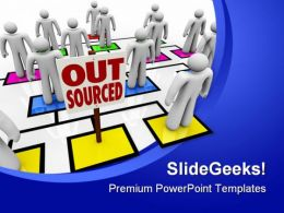 Out Sourced Metaphor PowerPoint Templates And PowerPoint Backgrounds 0811