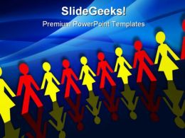 Paper Chain Global PowerPoint Templates And PowerPoint Backgrounds 0511