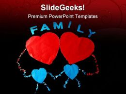 Paper Family PowerPoint Templates And PowerPoint Backgrounds 0811