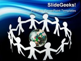 Paper Little People Global PowerPoint Templates And PowerPoint Backgrounds 0411