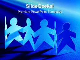 Paper Team Global PowerPoint Templates And PowerPoint Backgrounds 0711