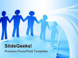 Paper Team People PowerPoint Templates And PowerPoint Backgrounds 0711