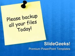 Paper With Notice Business PowerPoint Templates And PowerPoint Backgrounds 0811