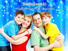 Parents With Sons Family PowerPoint Templates And PowerPoint Backgrounds 0611