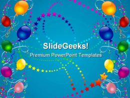Party Balloons Abstract Background PowerPoint Templates And PowerPoint Backgrounds 0811