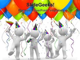 Party Balloons Holidays PowerPoint Backgrounds And Templates 1210