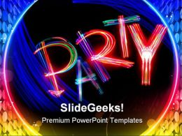Party Entertainment PowerPoint Templates And PowerPoint Backgrounds 0511