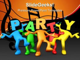Party People Lifestyle PowerPoint Templates And PowerPoint Backgrounds 0611
