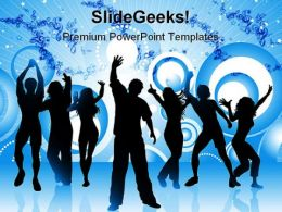 Party Time Entertainment PowerPoint Backgrounds And Templates 1210