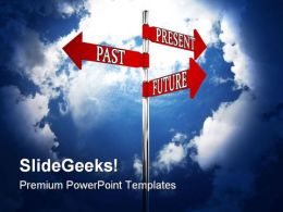 Past Present Future Signboard Travel PowerPoint Backgrounds And Templates 1210