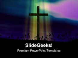Pastel Cross Religion PowerPoint Templates And PowerPoint Backgrounds 0211
