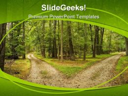 Path Nature PowerPoint Template 0810
