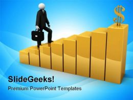 Path To Wealth Success PowerPoint Templates And PowerPoint Backgrounds 0711