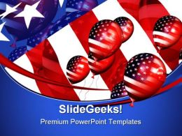 Patriotic Balloons Americana PowerPoint Templates And PowerPoint Backgrounds 0611