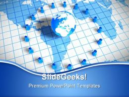 Pawns Around World Globe PowerPoint Templates And PowerPoint Backgrounds 0711
