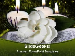 Peace Bible Religion PowerPoint Template 0610