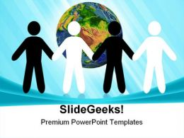 Peace Earth PowerPoint Templates And PowerPoint Backgrounds 0811