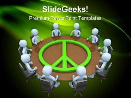 Peace Meeting Business PowerPoint Templates And PowerPoint Backgrounds 0711
