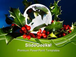Peace On Earth Christmas Festival PowerPoint Templates And PowerPoint Backgrounds 0611