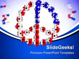 Peace Symbol Americana PowerPoint Templates And PowerPoint Backgrounds 0811