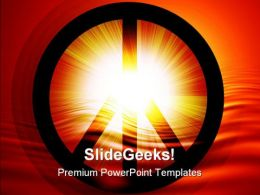 Peace Symbol PowerPoint Templates And PowerPoint Backgrounds 0711