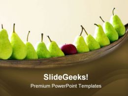 Pears And Apple Standout Food PowerPoint Template 1110