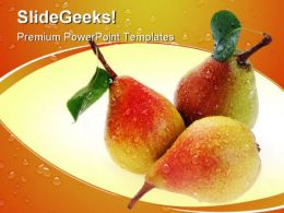 Pears And Leaves Food PowerPoint Templates And PowerPoint Backgrounds 0211
