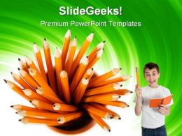 Pencils Education PowerPoint Templates And PowerPoint Backgrounds 0911