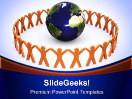 People Around Globe Success PowerPoint Templates And PowerPoint Backgrounds 0211