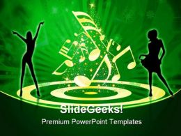 People Celebrating Music PowerPoint Templates And PowerPoint Backgrounds 0311