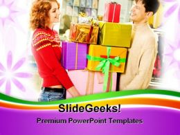 People Enjoying Shopping Lifestyle PowerPoint Templates And PowerPoint Backgrounds 0311