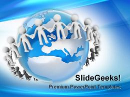 People Holding Hands Global PowerPoint Templates And PowerPoint Backgrounds 0311