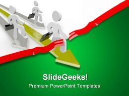 People Race Across Business PowerPoint Templates And PowerPoint Backgrounds 0611