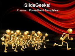 People Running Leadership PowerPoint Templates And PowerPoint Backgrounds 0511