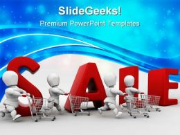 People Shopping Sales PowerPoint Templates And PowerPoint Backgrounds 0711