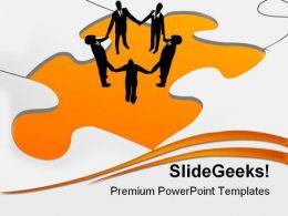 People Teamwork Business PowerPoint Template 0910