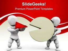 People With Pie Chart Business PowerPoint Templates And PowerPoint Backgrounds 0711