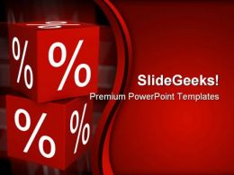 Percent Cube Finance PowerPoint Templates And PowerPoint Backgrounds 0211