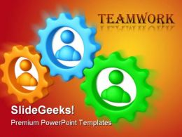 Perfect Teamwork PowerPoint Background And Template 1210
