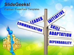 Performance Goals Communication PowerPoint Templates And PowerPoint Backgrounds 0911