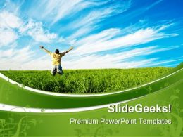 Person Enjoying Freedom Nature PowerPoint Templates And PowerPoint Backgrounds 0711