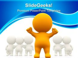 Person Standing Out Leadership PowerPoint Templates And PowerPoint Backgrounds 0411