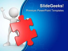 Person With Puzzle Business PowerPoint Templates And PowerPoint Backgrounds 0411