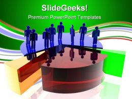 Persons On Chart Success PowerPoint Templates And PowerPoint Backgrounds 0711