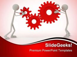 Persons With Cog Wheels Industrial PowerPoint Templates And PowerPoint Backgrounds 0311
